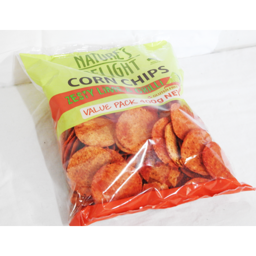Corn Chips Zesty Lime and Chili 400g