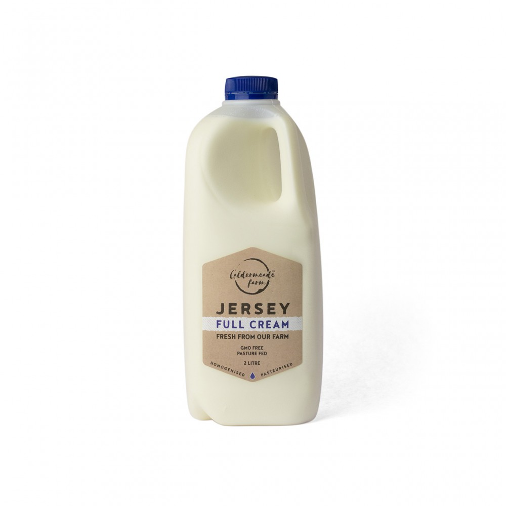 Caldermeade Farm Jersey Full Cream Milk 2L